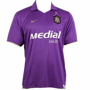 Camisa do Corinthians de 2008 - Camisa III (Roxa) c92eff671a7a6