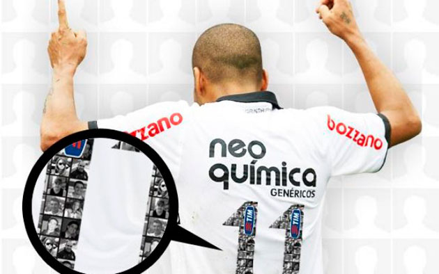 Camisa do Corinthians copiada pelo Real Madrid