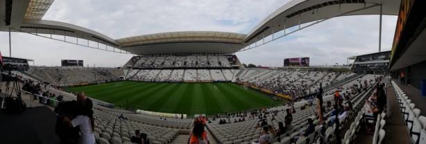 Treino aberto na Arena Corinthians antes da final da Copa do Brasil