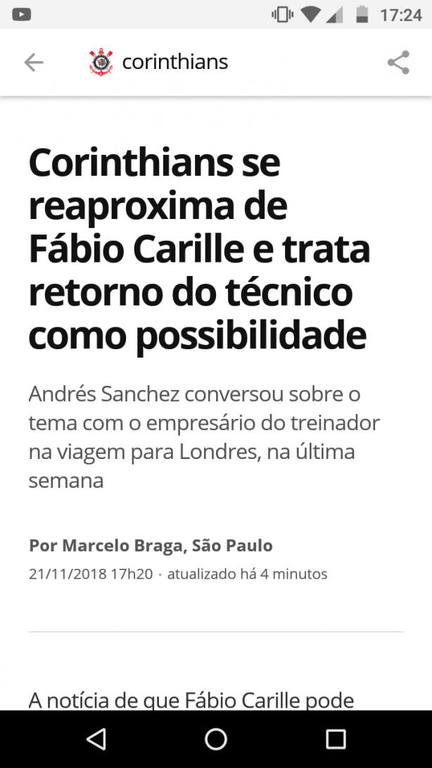 498e0efb49953 Ao que tudo indica é verídico o interesse do Corinthians no retorno de  Carille