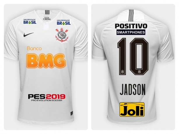 Camisa Corinthians 2019 (Com patrocínios( 73d59e7e16751