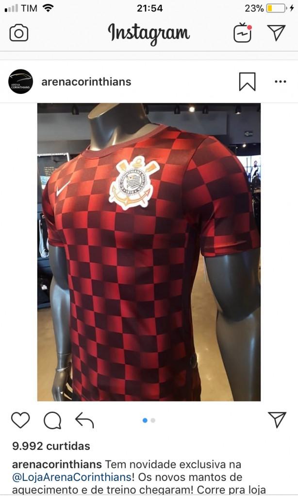 Nova camisa de treino - quadriculado 540cecca740bf