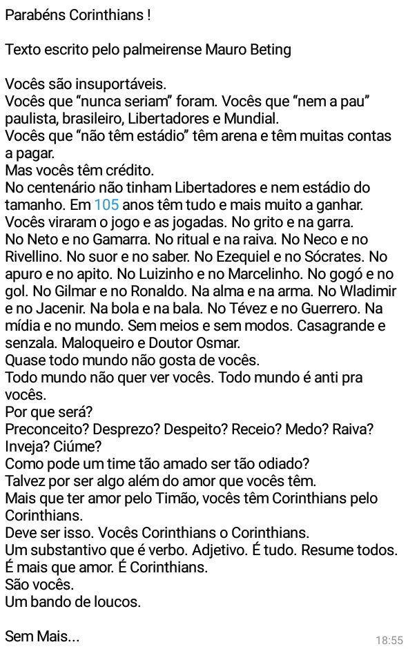 Texto mauro betting corinthians 2 youtube commercial song i bet my life on you
