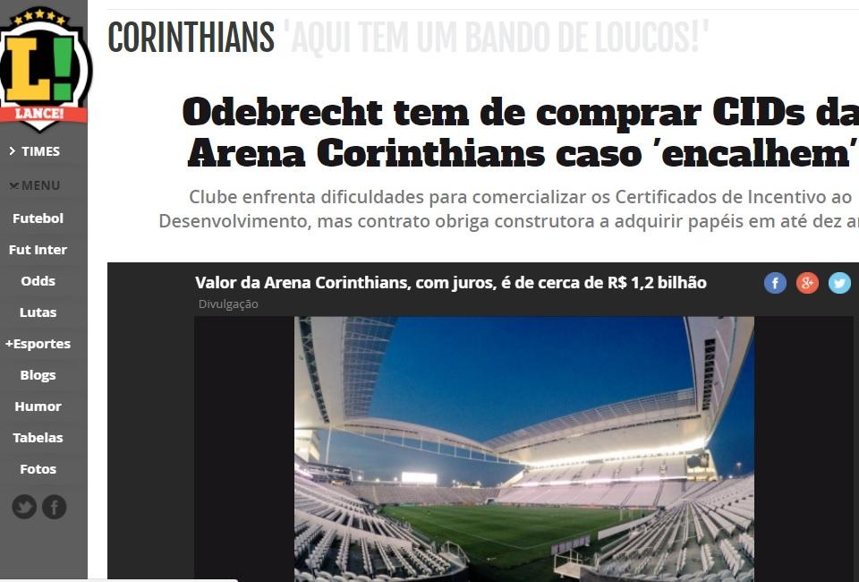 ... Odebrecht tem de comprar CIDs da Arena Corinthians caso  encalhem   5f0fd6f338aa5