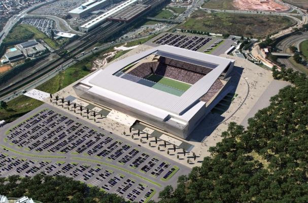Maquete do estádio do Corinthians