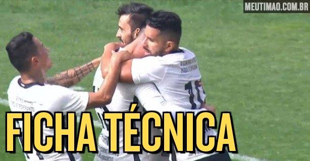 ff678ec3abe71 Ficha Técnica  Corinthians 3x0 Ponte Preta
