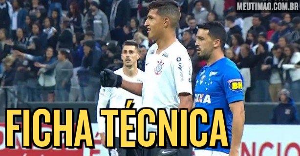 Ficha técnica  Corinthians 2x2 Cruzeiro 98b04c64a7717