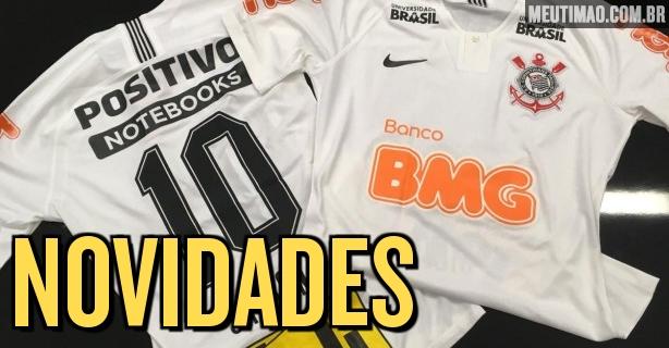 Veja como ficou camisa do Corinthians com novos patrocínios  estreia neste  domingo cb357c0b4ea20