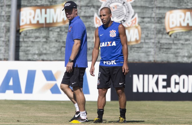 Sheik e Mano no treino do Corinthians no começo do ano