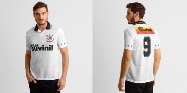 Corinthians inicia venda de réplica da camisa 1995 e95289e2eeb1d