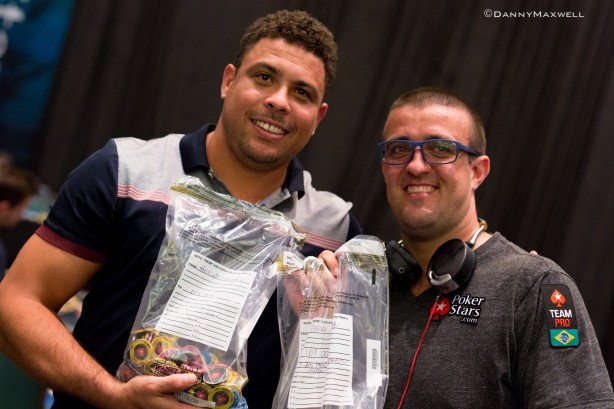 Akkari e Ronaldo fazem parte do Team PokerStars