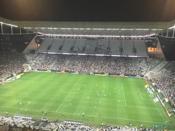 bbb3681ce4a25 Setor Leste da Arena Corinthians ficou bem vazio nesta quarta-feira