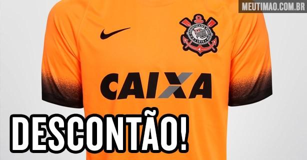Camisa laranja do Corinthians com 90 reais de desconto no ShopTimão 615eaff2a6e2f