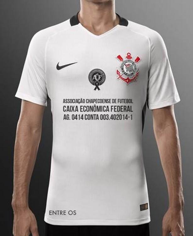 Camisa a ser usada pelo Corinthians contra o Cruzeiro tem escudo da  Chapecoense 46e16df493f23