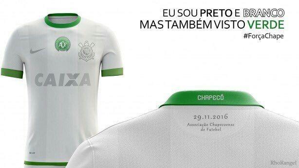 ac3d9f32f Camisa do Corinthians criada por torcedores em homenagem à Chape