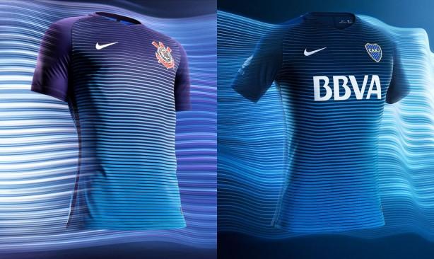 Terceiras camisas de Corinthians e Boca Juniors chamam atenção pela  semelhança entre si ba97a49060bcf
