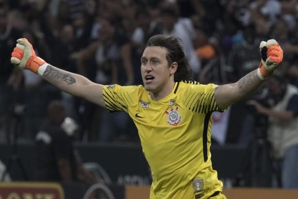 750272c8624a1 Cássio comemora defesa que classificou Corinthians à final do Paulista