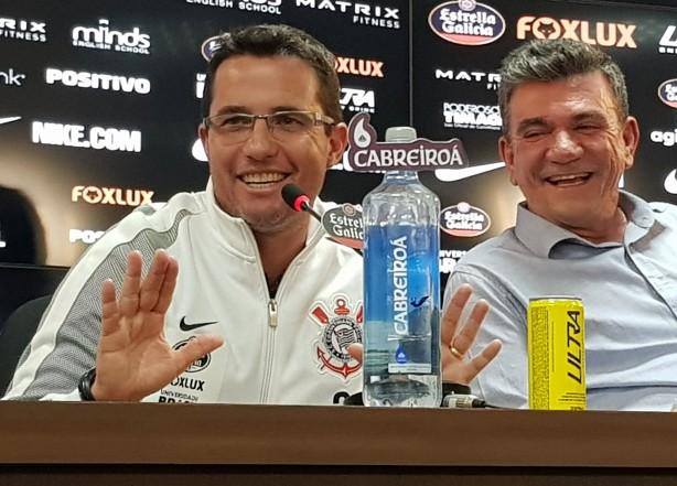 3b1501d4b286d Presidente Andrés Sanchez apresentou Osmar Loss como substituto de Carille  no Corinthians