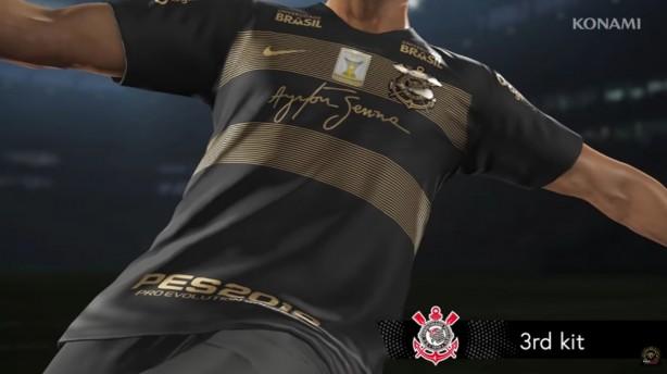 Camisa do Corinthians para Senna é inserida em atualização do PES 2019 a7cb9cccb9e60
