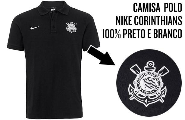 b666bc6275 Nova camisa polo da Nike 100% preta e branca é vendida por R 99.90