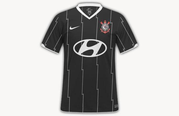Reprodução da camisa do Corinthians com o logo da Hyundai