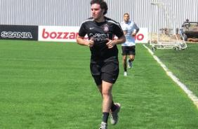 Ugo Casagrande no treino do Corinthians