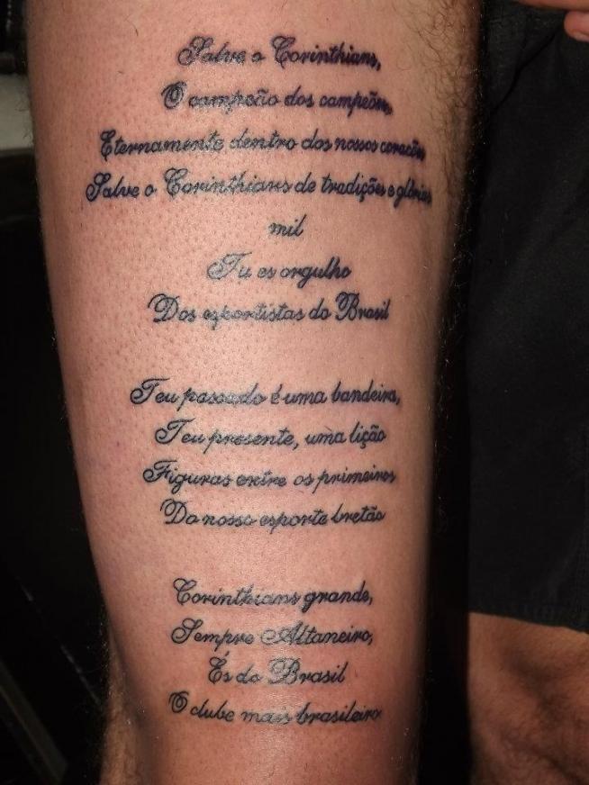 Tatuagem do corinthians de luiz gustavo tatuagem de luiz gustavo altavistaventures Image collections