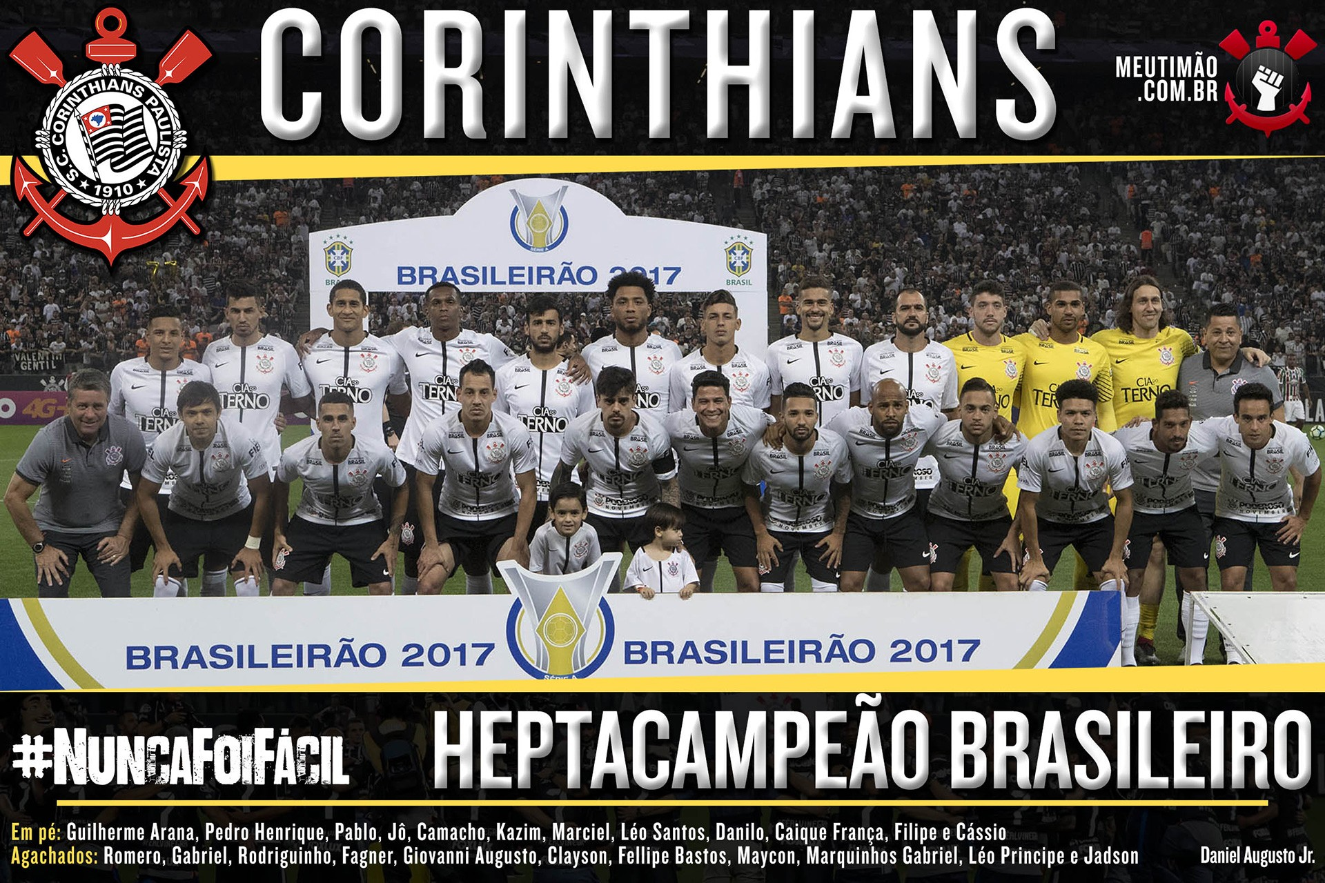 f53dfeef8f Wallpaper do Corinthians  Poster do heptacampeonato do Corinthians
